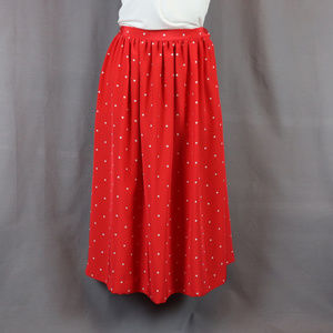 VTG 80s TanJay Red/White Polka Dot Maxi Skirt